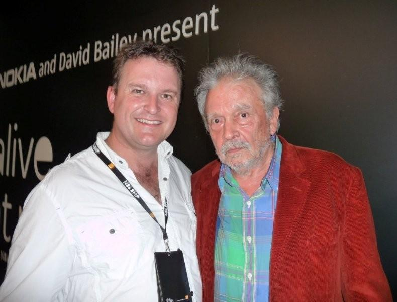 Craig Shepheard and David Bailey at their exhibition of photos using the Nokia N86 8MP Camera Phone